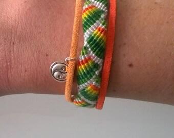 Friendship Bracelet and suede
