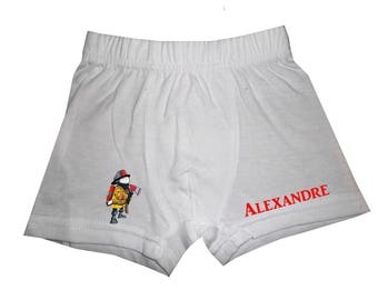 Boxer engine white boy personalized with name