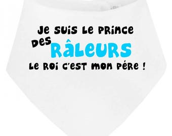 Funny baby bib bandana I am the haters King prince...