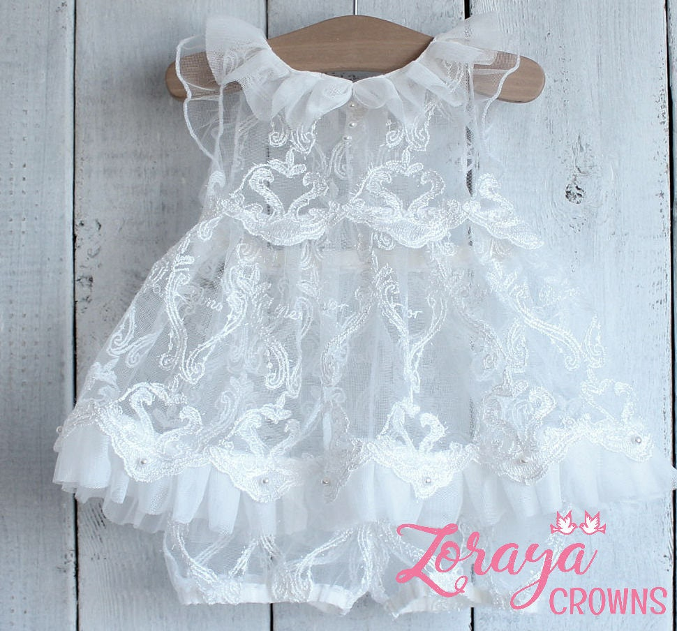 Wedding Sitters Dress, White Lace Dress, Flower Girl,Photography ...