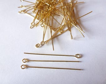 nails 30 to 40mm light gold metal (ref SFCD02) eye