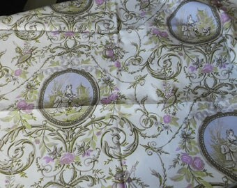 beautiful toile de Jouy fabric 'medallions'
