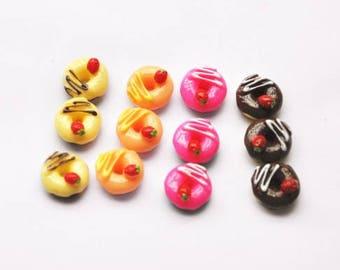 20pcs DIY Miniature Artificial Fake Food Cake Resin Cabochon Scrapbooking for diy decoration