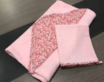 Pink liberty baby bathrobe