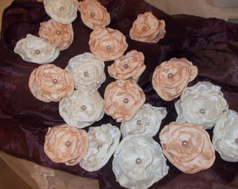 Flower vintage shabby satin made by hand