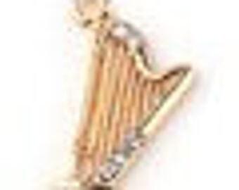 Golden harp + rhinestones