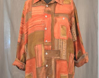 Crazy Abstract Rust Shirt