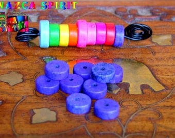20 wheels dyed Howlite beads 8 mm to ∅ Cobalt Blue / thickness: 3 mm
