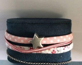Liberty fabrics MULTISTRAND bracelet and charm