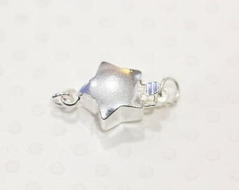 Star toggle with silver hoop