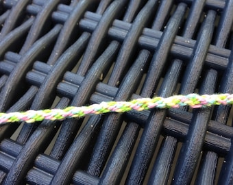 Round pale yellow, pale pink, green and blue bracelet