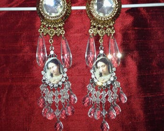 Baroque vintage clip earrings designed for women
