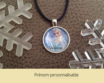 Frozen Elsa • necklace customize name - personalized jewelry • Cabochon