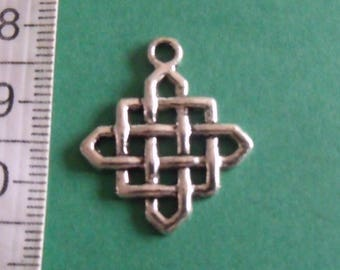 set of 2 charms silver 25mmx21mm