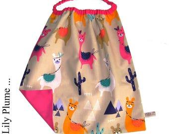 child's napkin elasticated llama