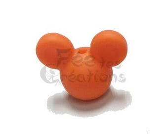 Pearls with earrings (Orange) silicone pacifier, rattle etc.