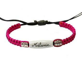 Custom braided bracelet. Jewel name woman.