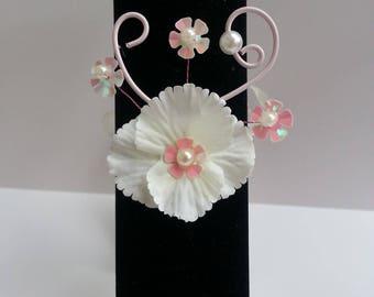 Bracelet pastel pink and ivory