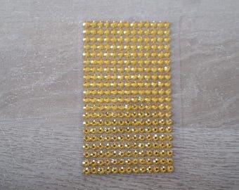Rhinestone yellow scrapbooking