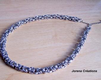 "Chain byzantine men Silver ""handmade"""