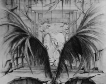 Angel paper grey
