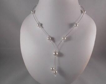 FANTASIA ivory wedding necklace