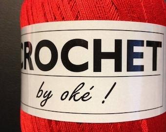 Wire crochet red crochet Oke