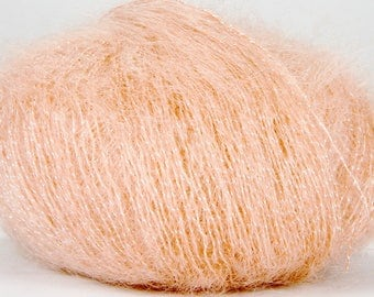 Wool Buttercup - LYRE - gold lame thread coral 118