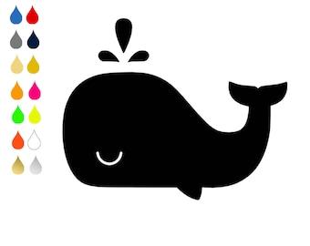 FLEX pixel pattern / whale / choose colors