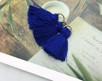 Tassel with removable ring / Navy Blue / height 2cm