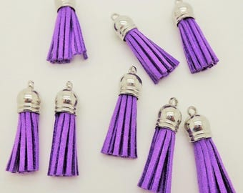 Tassel suede 35mm purple 001
