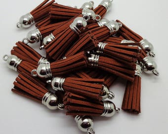 Rust tassel suede 35mm