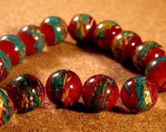 10 trefilee 12 Burgundy PE192-6 mm glass beads