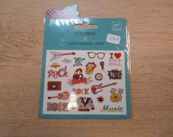 Description of Mini Djeco stickers metallics - Pop and Rock - 20 pcs