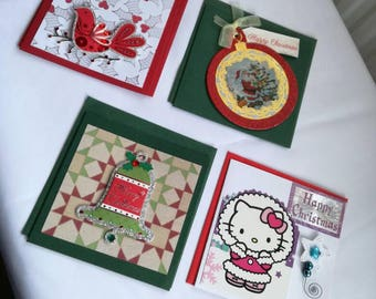 Pack of 4 4x4 Christmas cards