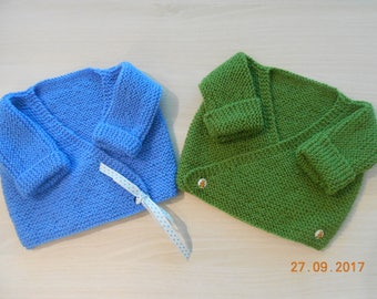 2 0/3 months hand knitted tops