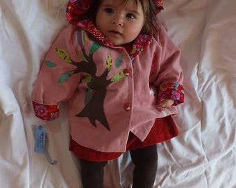 """""""The little Red Riding Hood"""" baby hooded jacket"""
