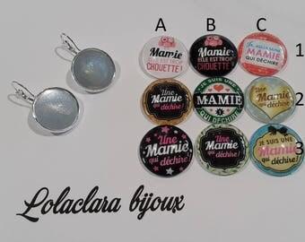 """Earrings """"a great Grandma"""" by lolaclarabijoux"""