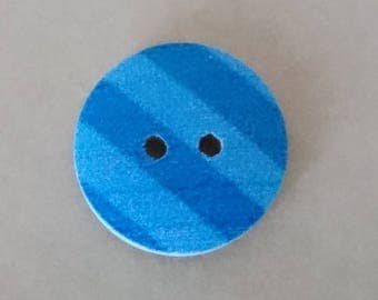 Set of 4 wooden decorative buttons