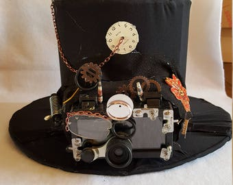 Steampunk toop hat barrette