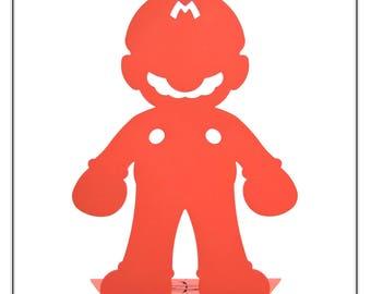 Mario Inspired Statue/Bookend