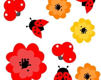 creation of Ladybird poppy pattern fabrics