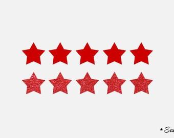 pattern 10 stars patch ref.rouge 2 cm