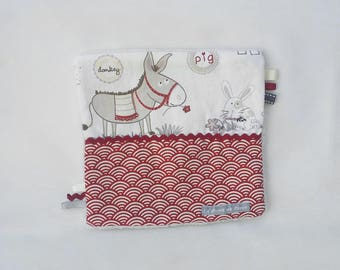 Flat blanket with ribbons (unisex)