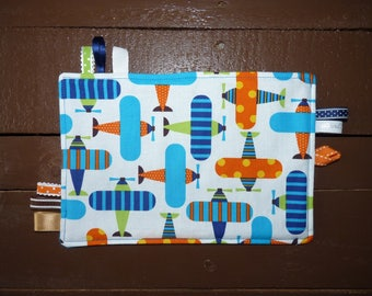 Cotton taggy had fleece lining turquoise