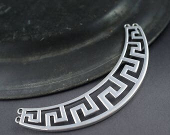 1 PIECE - large connector, bar necklace, silver - width 10cm