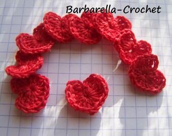Crochet cotton heart applique