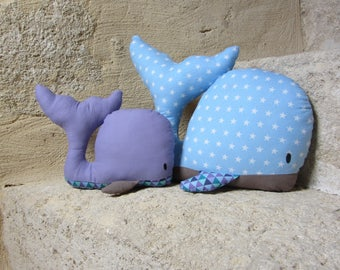 Decorative plush whale MOM and baby matching * custom *.