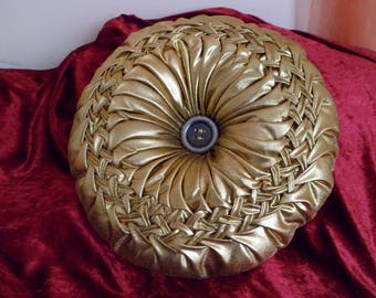 embroidered cushion braided color gold