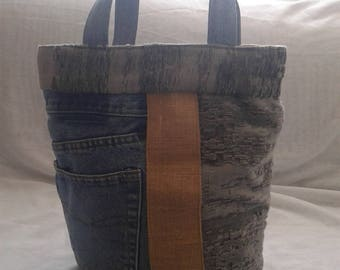 HANDMADE summer jean bag